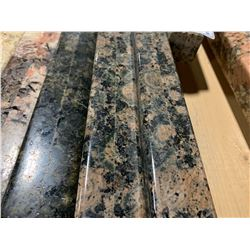 APPROX. 8' X 3' ROSE FLECKED BLACK GRANITE COUNTER TOP SLAB
