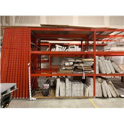 RACKING: 2X 10' X 3' PALLET RACKING UPRIGHTS WITH 6X 12' RACKING CROSS BARS