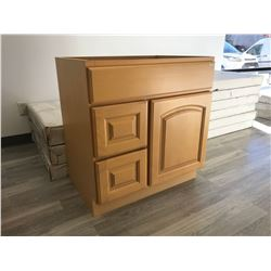 MAPLE  48  W X 21  D X 32  T 4 DRAWER VANITY, MODEL: VA4821D-32