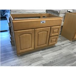 MAPLE  36  W X 21  D X 32  T VANITY WITH RIGHT HAND DRAWERS, MODEL: VA3621DR-32