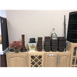 ASSORTED DISPLAY DECOR, FISHING RODS, AND MORE