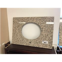 32  X 23  SALMON AND BLACK PRE CUT GRANITE VANITY COUNTER TOP