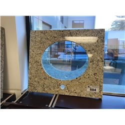 "26"" X 23"" BEIGE FLECKED PRE CUT GRANITE VANITY COUNTER TOP"