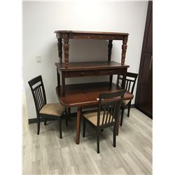 KITCHEN TABLE, COFFEE TABLE AND 3 CHAIRS