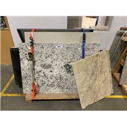 PALLET OF 13 ASSORTED PRE CUT MARBLE/GRANITE COUNTER TOPS