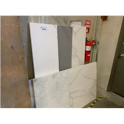 5 ASSORTED MARBLE COUNTER TOPS