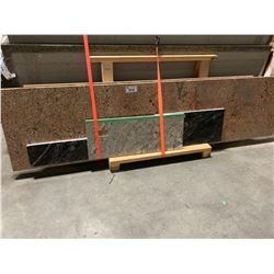 4 ASSORTED GRANITE COUNTER TOPS
