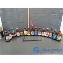(15) Glass Beer Bottles