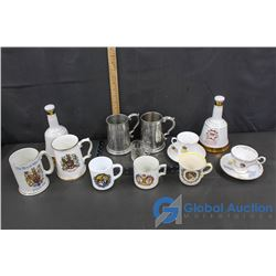 Royal Family Cups, Tankards & Whisky Bottles