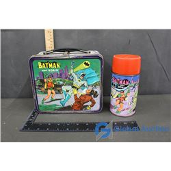 Vintage Batman & Robin Lunch Box & Thermos