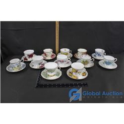 Misc China (12 Cups & Saucers)