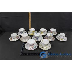 Misc China (11 Cups & Saucers)