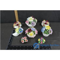 (8) Pieces of Flower Decor