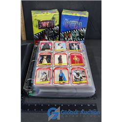 Binder of Star Wars Cards and (2) Boxes of Movie Photo Cards