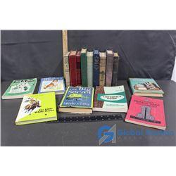 (15) Vintage Hardcover Books