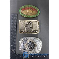 (3) Belt Buckles
