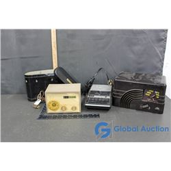 Northern Electric Tin, Sanyo Tape Recorder & (2) Radios