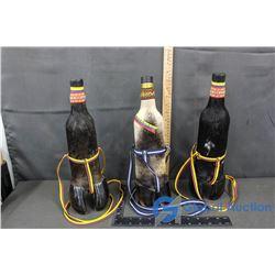 Hoof Decorated Bottles from Venezuela BID PRICE TIMES 3