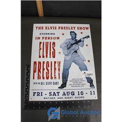 Elvis Presley Reproduction Sign