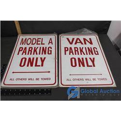 (2) Van Parking Only Signs