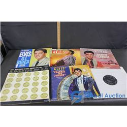 (5) Elvis Records and a Box Set of (4) Records