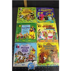 (6) Disney Books With Record
