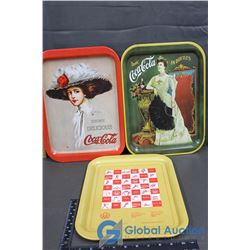 (3) Different 1970s Coke Trays