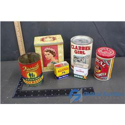 Selection of (6) Vintage Kitchen Tins