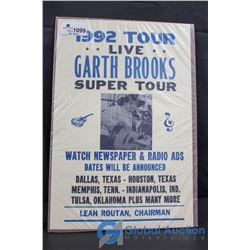 Garth Brooks Concert Poster