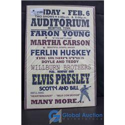 Elvis Presley & Faron Young Concert Poster