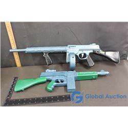 (2) Marx Plastic Working Tommy Gun