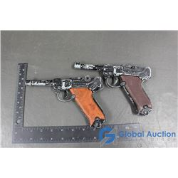 (2) 9mm Luger Toy Cap Guns