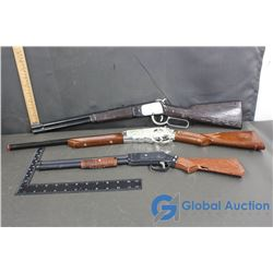 (3) Different Western Rifle Cap Guns