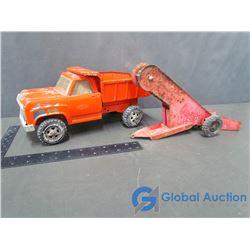 Vintage Tonka Metal Dump Truck & Conveyor