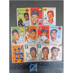 (11) 1954 Topps Cards