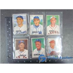 (6) 1951 Bowman Cards