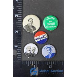 (5) Vintage Election Pins