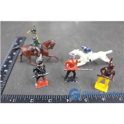(5) Lead Toy Figurines