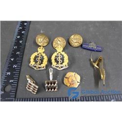 RCMP Fire Pins Military Buttons Medical Corp Pins