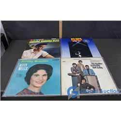 (4) Records (Elvis, Kitty Wells and The Beatles)