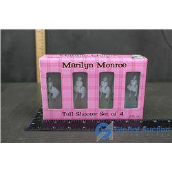 Set Of 4 Marylin Monroe Shot Glasses in Box
