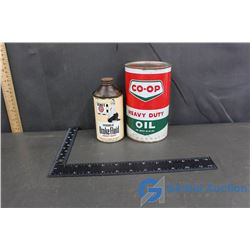 Co-Op Oil Can and Brake Fluid Can