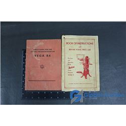 (2) Vintage Cream Separator Care and Operation Books