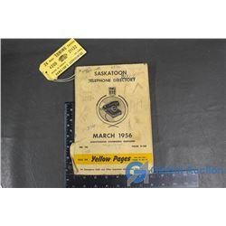 1956 Saskatoon Telephone Directory Book