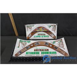 (2) Australian Returning Boomerang