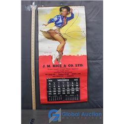 1956 Vintage Pin-Up Wall Calendar