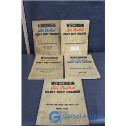 (5) Wisconsin Heavy Duty Engine Books