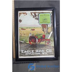 Framed Eagle Tractor Picture