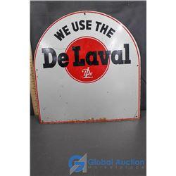 DeLaval Metal Tin Sign