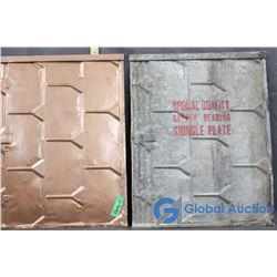 (2) Special Quality Copper Bearing Shingle Plate - Bid Price x2